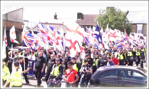 Britain First - 2015 - March in Luton