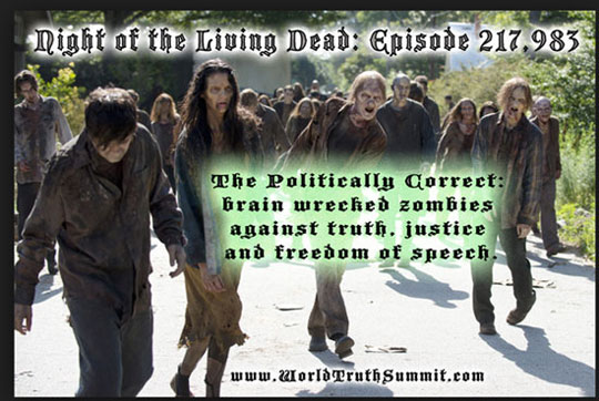 politically correct zombies against freedom of speech