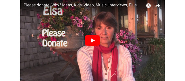 Please donate to Elsa - ideas, kids' video, music, interview and more